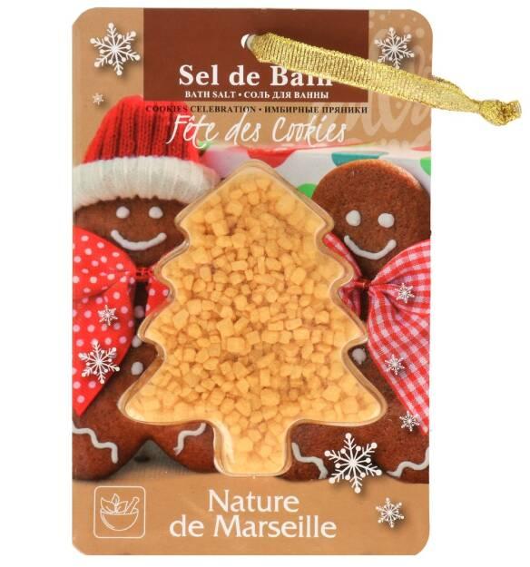 NATURE DE MARSEILLE sól do kąpieli z miką o zapachu świątecznych ciasteczek