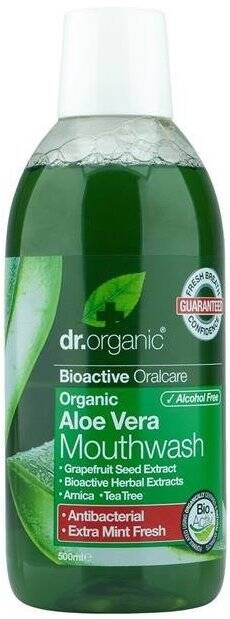 Dr.Organic Aloe Vera płyn do płukania ust z aloesem 500ml