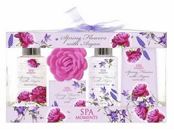SPA MOMENTS 5-elementowy zestaw kosmetyków o zapachu wiosennych kwiatów z arganem