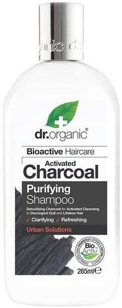 Dr.Organic Charcoal szampon z aktywnym węglem 265 ml